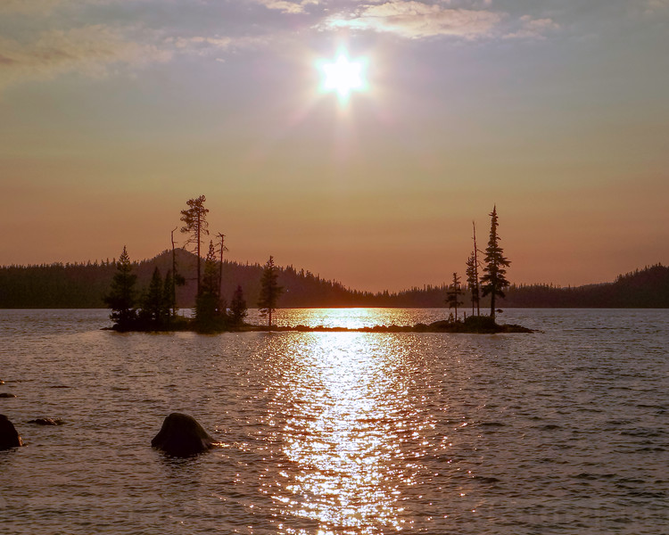 The Day is fading at Waldo Lake