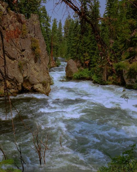 Rapids along Deschutes River