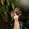 Sherri - Bridal Falls - Gold Dress - Hair