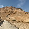 Hiking up to Masada