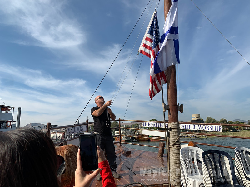 Raising the US Flag