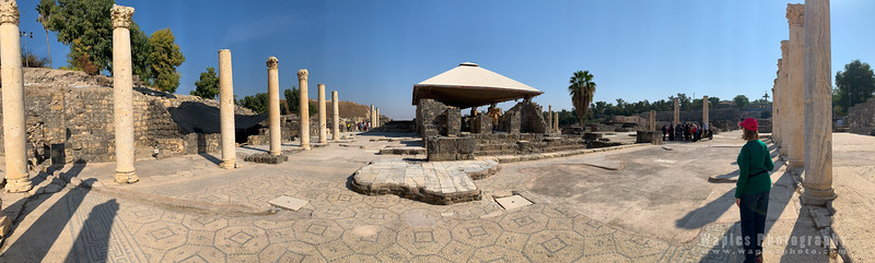 Colonnaded area