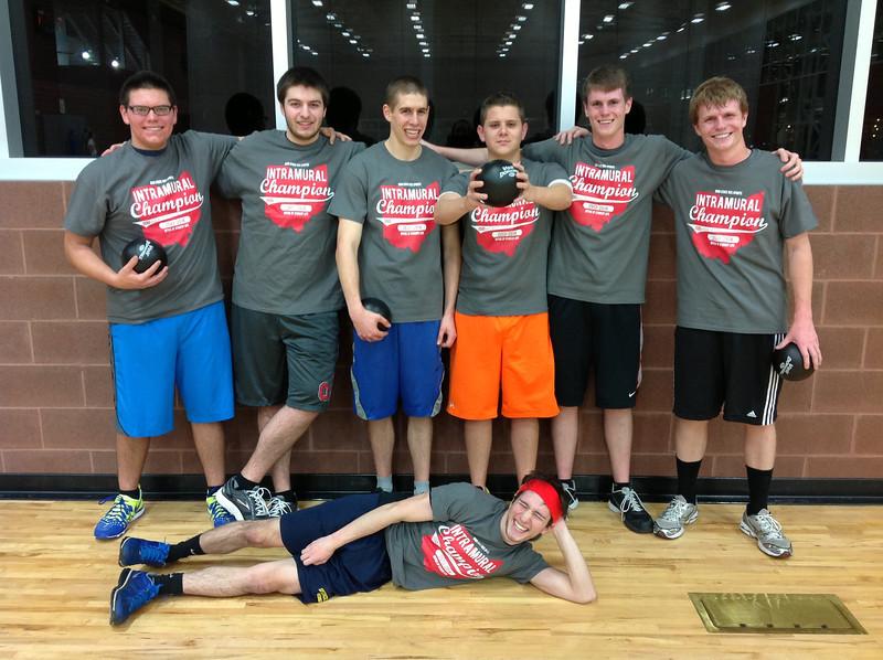 Intramural Dodgeball Champs: The Gladiators Autumn 2013