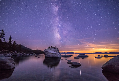 Milky Way Over Bonsai Rock