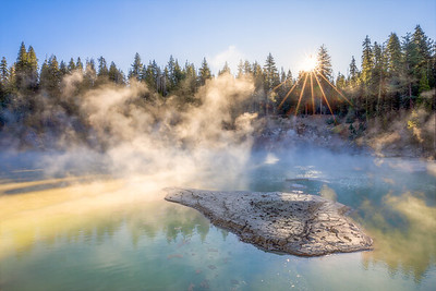 Boiling Springs Lake Morning, Lassen Volcanic National Park