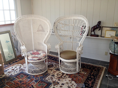Peacock chairs (2) - House goods in storage 2015-15