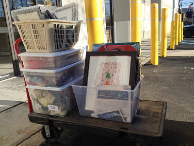 Artwork (2), fabric and art supplies (3) - - House goods in storage 2015-15