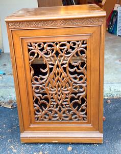 Teak cabinet speaker housing (1 of 2) - House goods in storage 2015-15