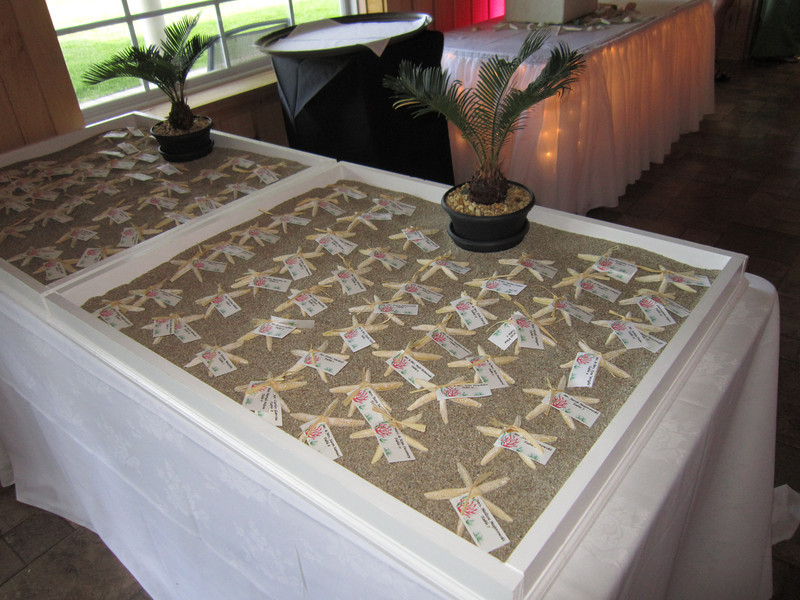 Place card box with Sand
