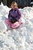 Sarah Lininger on a mountain of snow