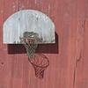 Basketball Goal on Barn