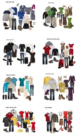 <center><b><font size=4>What to Wear<br></b></font></center>  <font size=3>First and foremost, you should feel comfortable in what you're wearing.  Generally, you want to avoid distracting patterns and logos unless they are meant to be a focal point in the picture.  <b><br><br><font size=4>Solids or simple patterns look best in photos, and for group photos everyone should wear similar colors, or complimenting hues, in but not necessarily matching.  Accessorizing is key, shoes, scarves, earrings etc. can really tie the photos together!!    It is best to avoid wearing light bottoms with dark tops because they draw attention to the lower half of your body.  And when wearing dark bottoms, stay away from white socks. <br><br><font size=4> All that said, it is MOST IMPORTANT for you to wear colors and a style that most compliments you and who you are.  If you feel confident and attractive, your pictures will be beautiful.