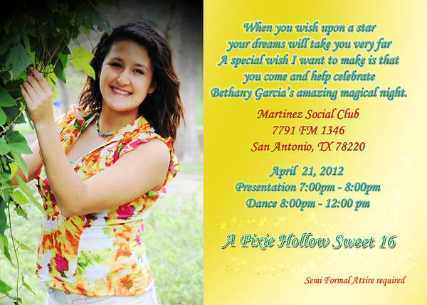 2012 Bethany Garcia Invitations