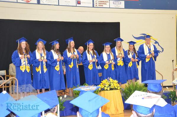 Iola High School graduation ceremony