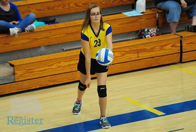 Iola Middle School volleyball vs Wellsville 9/4