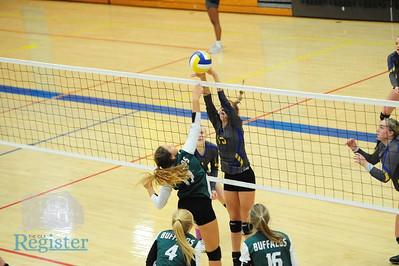 Iola volleyball versus Prairie View and Osawatomie 10/18
