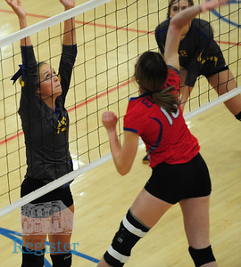 Iola volleyball vs Eureka and Fredonia 9/27