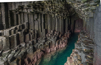 The inside of Fingall's Cave