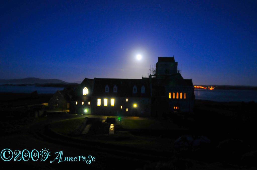 Iona Abbey at night