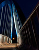 Des Moines Walking bridge at night