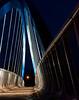 Des Moines Walking bridge at night