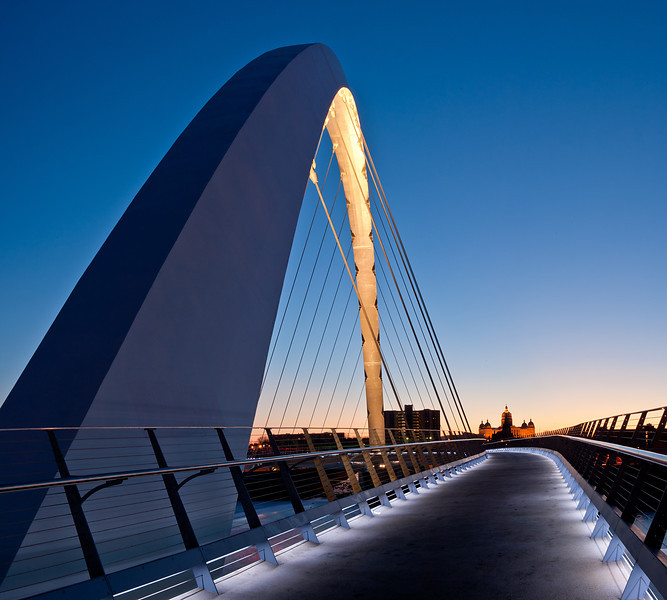 Capital and bridge at dusk