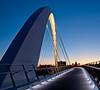 Capital and bridge at dusk