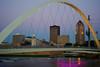 Des Moines walking bridge at sun rise