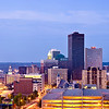 This image is a combination of 16 images stitched together making a very high resolution image of downtown Des Moines. It can be blown up to make a very large attractive wall covering.