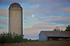 Silo and moon