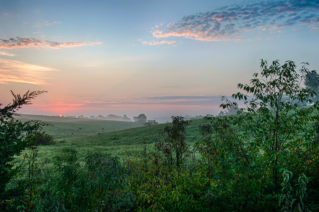 Magical sunrise in central Iowa.