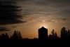 Corn crib at sunrise