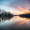 Reflections on the Des Moines river.