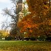 Iowa State Campanile in Fall