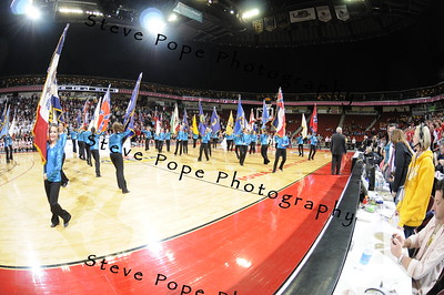 All St Dancers and Flag Team