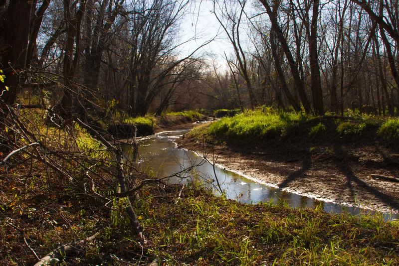 Creek Along Neal Smith Trail in Bob Shetler Recreation Area