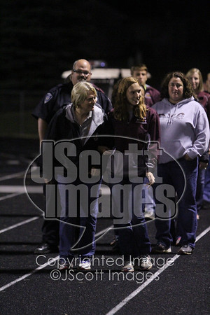 Senior Night: Cheer Team Recognition at Football Game