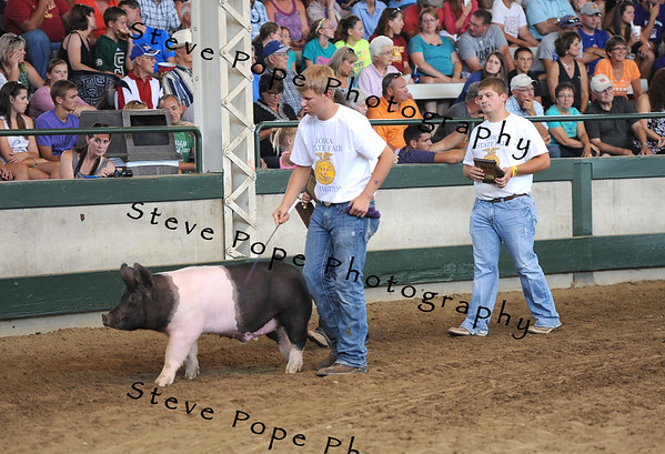 Reserve Champion Market Swine went to Ben Jacobsen, of the Clarion-Goldfield FFA chapter at Clarion, in the FFA Parade of Champions at the Iowa State Fair on Aug. 10. (Iowa State Fair/ Steve Pope Photography)