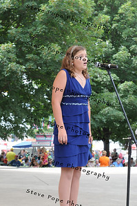 Rylee Matthews, 12, of Urbandale, performs a vocal solo in the Bill Riley Talent Search at the Iowa State Fair on Aug. 8. (Iowa State Fair/ Steve Pope Photography)