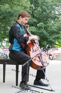 Jonathan Haverdink, 19, of Orange City, performs a cello solo in the Bill Riley Talent Search at the Iowa State Fair on Aug. 8. Haverdink's performance qualified him for the semi-final round in the Bill Riley Talent Search. (Iowa State Fair/ Steve Pope Photography)