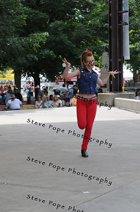 Rachel Heim, 13, of Davenport, performs a tap dance routine in the Bill Riley Talent Search at the Iowa State Fair on Aug. 8. (Iowa State Fair/ Steve Pope Photography)