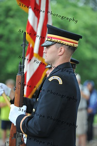 Albia resident Geoffry Grosevnor is part of the color guard at the 2014 Iowa State Fair Opening Ceremony on Aug. 7. (Iowa State Fair/ Steve Pope Photography)