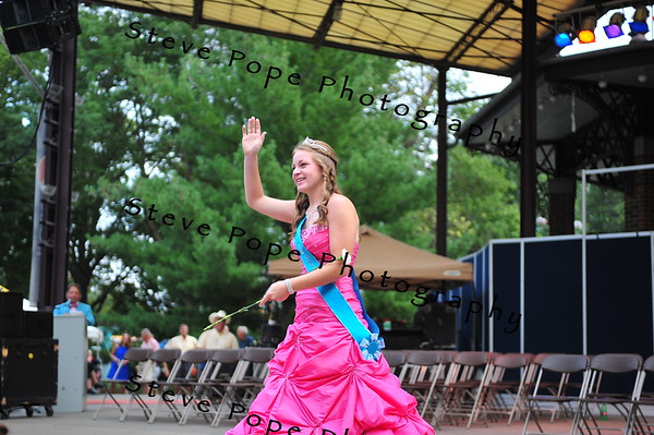 Adair County QueenHailey Jo Gross, 16, of Stuart, is introduced during the Iowa State Fair Queen Coronation Ceremony on the Anne and Bill Riley Stage at the Iowa State Fair on Aug. 9. (Iowa State Fair/ Steve Pope Photography)