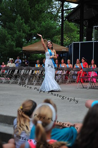 Buchanan County Queen Alana Platte, 17, of Fairbank, is introduced during the Iowa State Fair Queen Coronation Ceremony on the Anne and Bill Riley Stage at the Iowa State Fair on Aug. 9. (Iowa State Fair/ Steve Pope Photography)