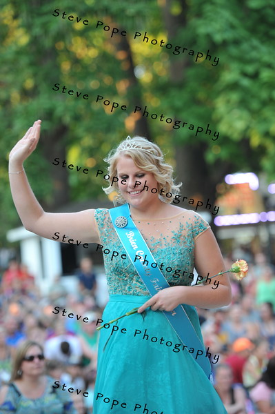 O'Brien County Fair Queen Lori Heemstra, 18, of Primghar, participates in the 2015 Iowa State Fair Queen Coronation Ceremony on Aug. 15.  (Iowa State Fair/ Steve Pope Photography)