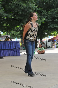 Kylen Anderson, 16, of Washington, performs a clog solo in the Bill Riley Talent Search at the Iowa State Fair on Aug. 13. (Iowa State Fair/ Steve Pope Photography)