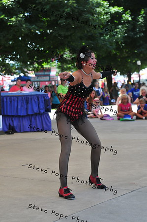 Lydia Fisher, 12, of Wapello, performs a tap dance in the Bill Riley Talent Search at the Iowa State Fair on Aug. 14. (Iowa State Fair/ Steve Pope Photography)