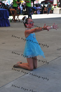 Nine year old Maddie Caes, of Altoona, performs a lyrical dance routine in the Bill Riley Talent Search at the Iowa State Fair on Aug. 14. (Iowa State Fair/ Steve Pope Photography)