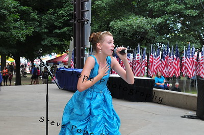 Annie Brown, 12, of Cedar Falls, performs a musical theater vocal in the Bill Riley Talent Search at the Iowa State Fair on Aug. 17. (Iowa State Fair/ Steve Pope Photography)