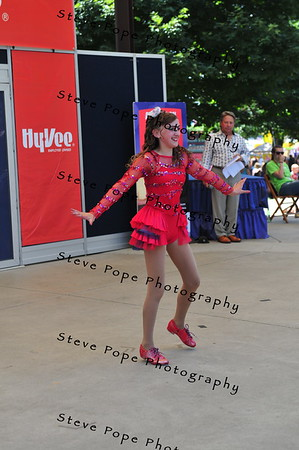 Emma Vetter, 12, of Wilton, performs a tap dance in the Bill Riley Talent Search at the Iowa State Fair on Aug. 14. (Iowa State Fair/ Steve Pope Photography)